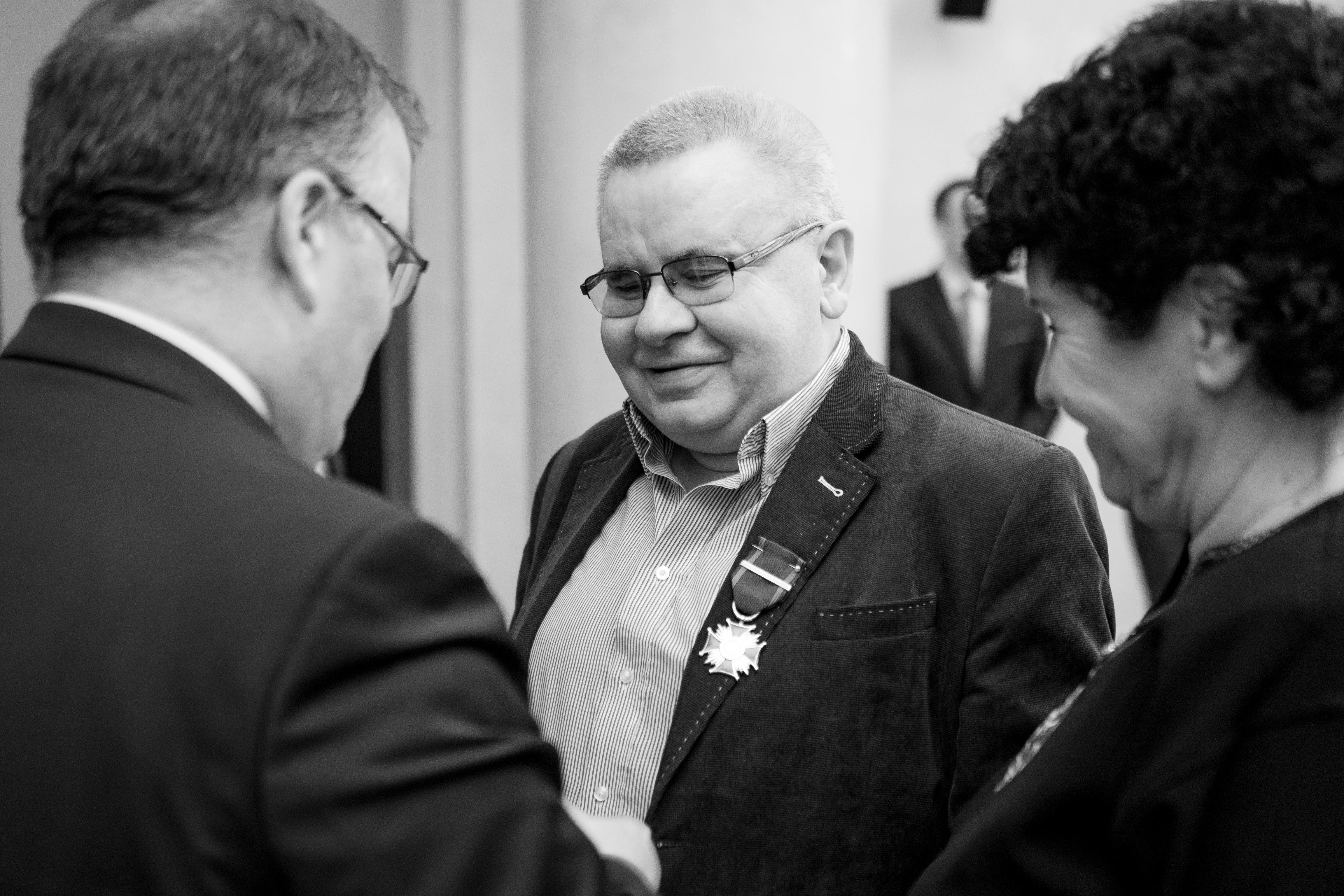 Janusz Skowron - czarno-białe zdjęcie
